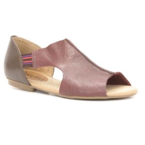 Sandália Rasteira Feminina em Couro Wuell Casual Shoes – LB 5123 –  bordô e marrom