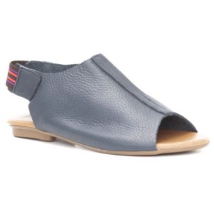 Sandália Rasteira Feminina em Couro Wuell Casual Shoes – LB 5023 –  azul