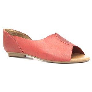 Sandália Rasteira Feminina em Couro Wuell Casual Shoes – LB 1723 –  vermelho