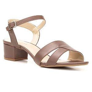 Sandália Salto Médio Feminina em Couro Wuell Casual Shoes  – TORRES DEL PAINE - CL  002970 –  marrom