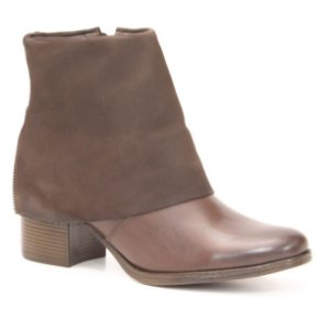 Bota Feminina de Salto Médio em Couro Natural Wuell Casual Shoes - TORRES DEL PAINE - CL 071915 -  marrom