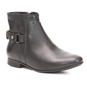 Bota Feminina em Couro Natural Wuell Casual Shoes - CL 047916 - preta