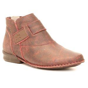 Bota Feminina em couro Wuell Casual Shoes - JVC 0900  - bordô