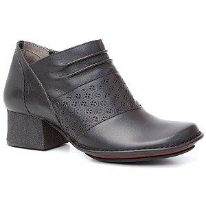 Bota Feminina em couro Wuell Casual Shoes - JBD 1500 - preta