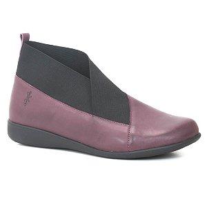Bota Feminina em Couro Wuell Casual Shoes - PUNTA ARENAS - VN 144641 - bordô