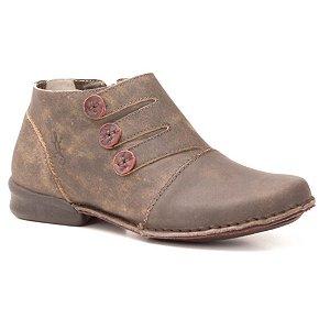 Bota Feminina em couro Wuell Casual Shoes - JVC 0800 - marrom stone