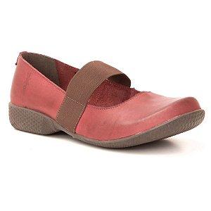 Sapato Feminino em couro Wuell Casual Shoes - PUNTA ARENAS - VN 074630 - vermelho