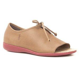 Sandália Feminina Fechada em couro Wuell Casual Shoes - PUNTA ARENAS - VN 028640 - marrom claro