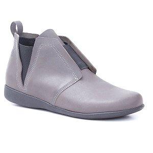 Bota Feminina em Couro Wuell Casual Shoes - NV 282741 - cinza