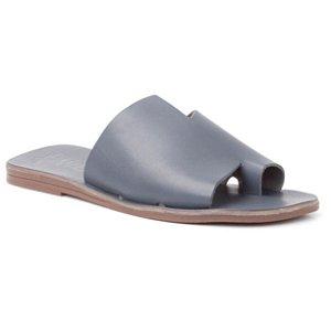 Sandália Rasteira Feminina em Couro Wuell Casual Shoes - RIO BAKER – MIZ 9317 –  azul
