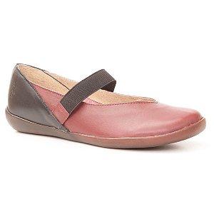 Sapatilha Feminina em couro Wuell Casual Shoes - RIO BAKER - MIZ 0018 - carmim