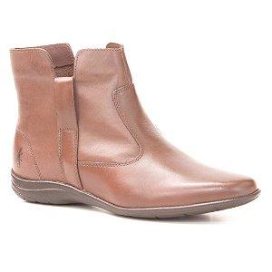 Bota baixa Feminina em Couro Wuell Casual Shoes - LAGO GENERAL CARRERA - PV 2844 - marrom