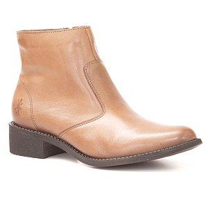 Bota baixa Feminina em Couro Wuell Casual Shoes  - LAGO GENERAL CARRERA - PV 5240 - marrom
