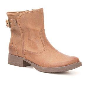 Bota baixa Feminina em Couro Wuell Casual Shoes - LAGO GENERAL CARRERA - PV 81916 - marrom