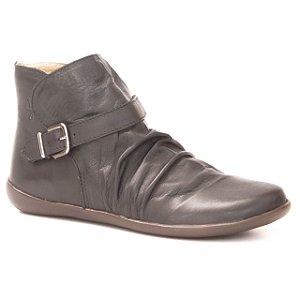 Bota Feminina baixa em Couro Wuell Casual Shoes - RIO BAKER - MIZ 9615 - preta