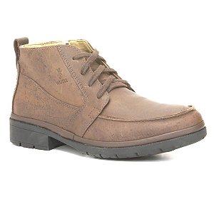 Bota Masculina em couro Wuell Casual Shoes - MEN - TPS - 60443B - marrom praire