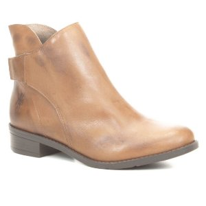 Bota de salto baixo Feminina em Couro Wuell Casual Shoes - FITZ ROY - BZ 3728 - marrom