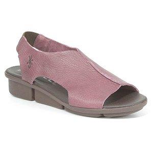 Sandália anabela Feminina em Couro Wuell Casual Shoes - PERITO MORENO - RO 08711 - bordô