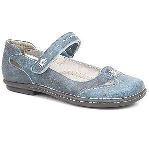 Sapatilha feminina em Couro Wuell Casual Shoes - Castelo - JMA 0202 - azul