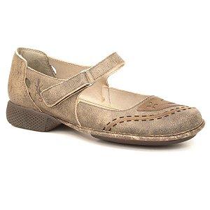 Sapato feminio em Couro Wuell Casual Shoes - Castelo - JAD 6400 - marrom