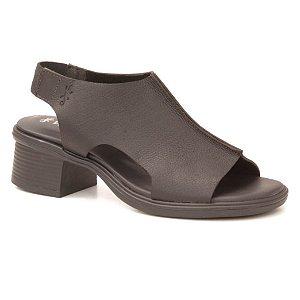 Sandália feminina em Couro Wuell Casual Shoes - Pati - RO 00117 - preto