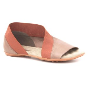 Sandália Rasteira Feminina em couro Wuell Casual Shoes - Andaraí - VN 326232 - chocolate