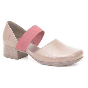 Sapato Feminino salto médio em couro Wuell Casual Shoes - Andarai -  VN 017650 - marrom e bordô