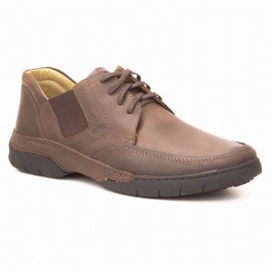 Sapato Masculino em couro Wuell Casual Shoes - MEN - TPS 20144 - marrom
