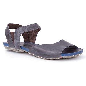 Sandália Rasteira Feminina em Couro Wuell Casual Shoes - Contas - VC 01310 - marinho