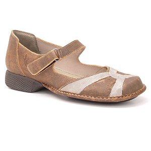 Sapato Feminino em couro Wuell Casual Shoes - Castelo - JAD 6300 - laranja