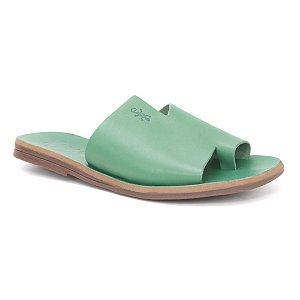 Sandália Rasteira Feminina em Couro Wuell Casual Shoes – Capão -  MIZ 9317 – verde folha full