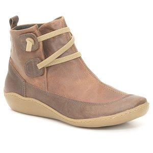 Bota Cano Baixo Wuell Casual Shoes - Pati - RO 75210 - bege e marrom