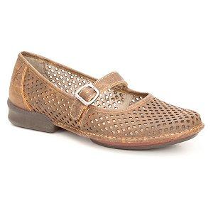 Sapatilha feminina em Couro Wuell Casual Shoes - Castelo - JQC 0800 - laranja