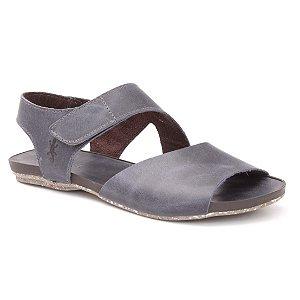 Sandália Rasteira Feminina em Couro Natural Wuell Casual Shoes - Contas - VC 02010 – marinho