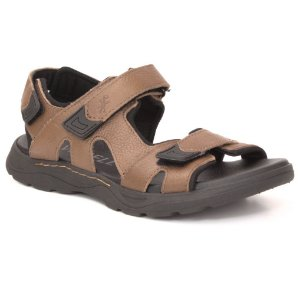 Sandália Papete Masculina em Couro Wuell Casual Shoes - Men - TI 40115 - marrom