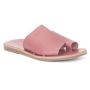 Sandália Rasteira Feminina em Couro Wuell Casual Shoes – MIZ 9317 – bordô
