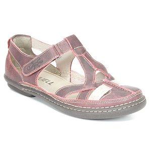 Sapato Feminino em couro Wuell Casual Shoes - Cris -JMA 0300 - bordô
