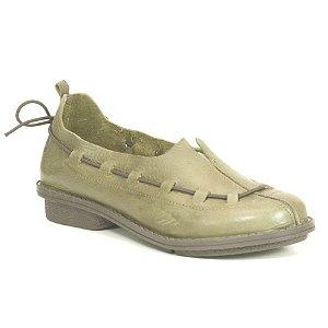 Sapato Feminino em Couro Wuell Casual Shoes- RO 5757 - verde