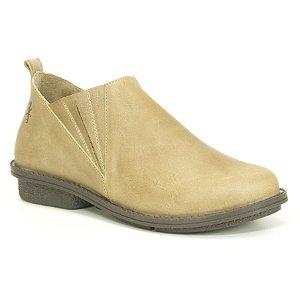 Bota feminina em Couro Wuell Casual Shoes - RO 3951 - areia