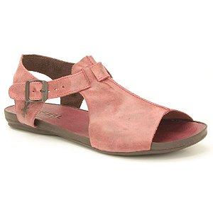 Sandália Rasteira Feminina em Couro Wuell Casual Shoes - VC 31810 - vermelha