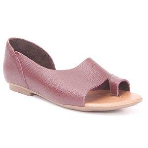 Sandália Feminina em couro Wuell Casual Shoes - AB 180 - bordô
