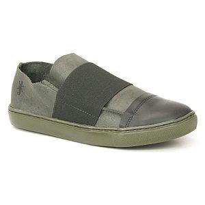 Sapato feminino em Couro Natural Wuell Casual Shoes - VC 7517 –  grafite e preto