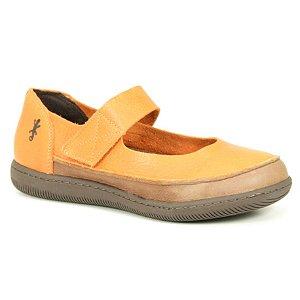 Sapato feminino em Couro Natural Wuell Casual Shoes - VC 73680 –  laranja e marrom