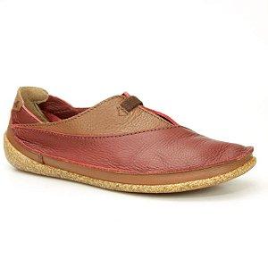 Sapato feminino em Couro Natural Wuell Casual Shoes - ZM 3875 –  bordô e marrom