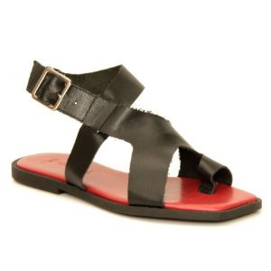 Sandália Feminina em Couro Natural Wuell Casual Shoes – ZTG 0530  –  preta