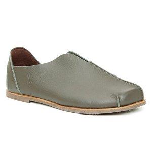 Sapato Feminino em Couro Natural Wuell Casual Shoes – MIZ 9918  –  verde musgo