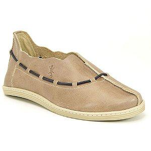 Sapato feminino em Couro Natural Wuell Casual Shoes - DA 6702 – areia