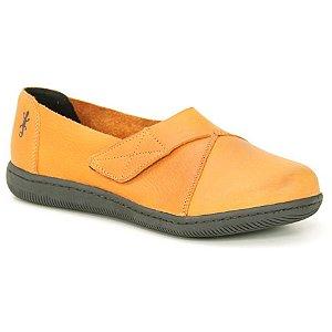 Sapato feminino em Couro Natural Wuell Casual Shoes - VC 73480 – laranja