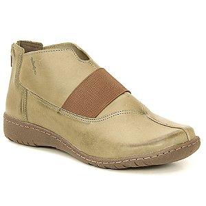 Bota feminina em Couro Natural Wuell Casual Shoes - VN 330781 – verde e marrom