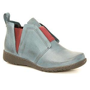 Bota feminina em Couro Natural Wuell Casual Shoes - VN 323781 – azul e bordô